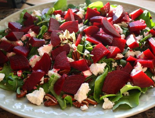 Roasted Beet with Fresh Goat Cheese & Toasted Pecans