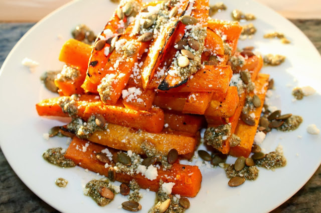 ... Roasted Butternut Squash with Sage & Toasted Pumpkin Seed Pesto and