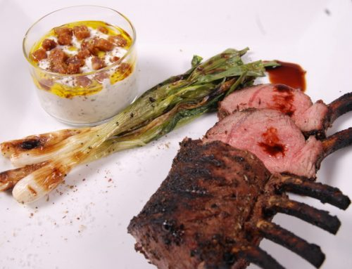 Grilled Rack of Lamb with Tzatziki Sauce